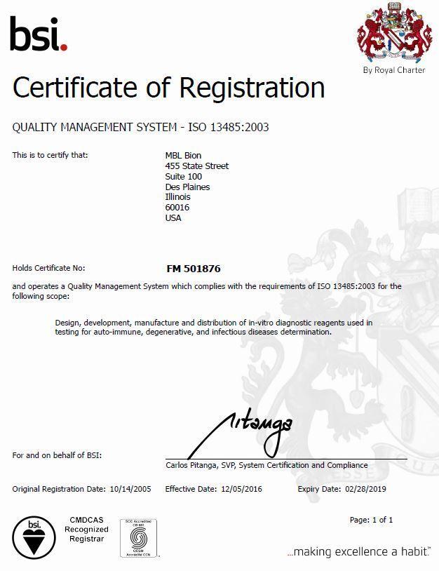 Regulatory Certifications Mbl