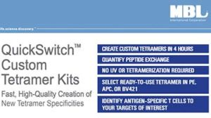 QuickSwitch™ Custom Tetramers Kits